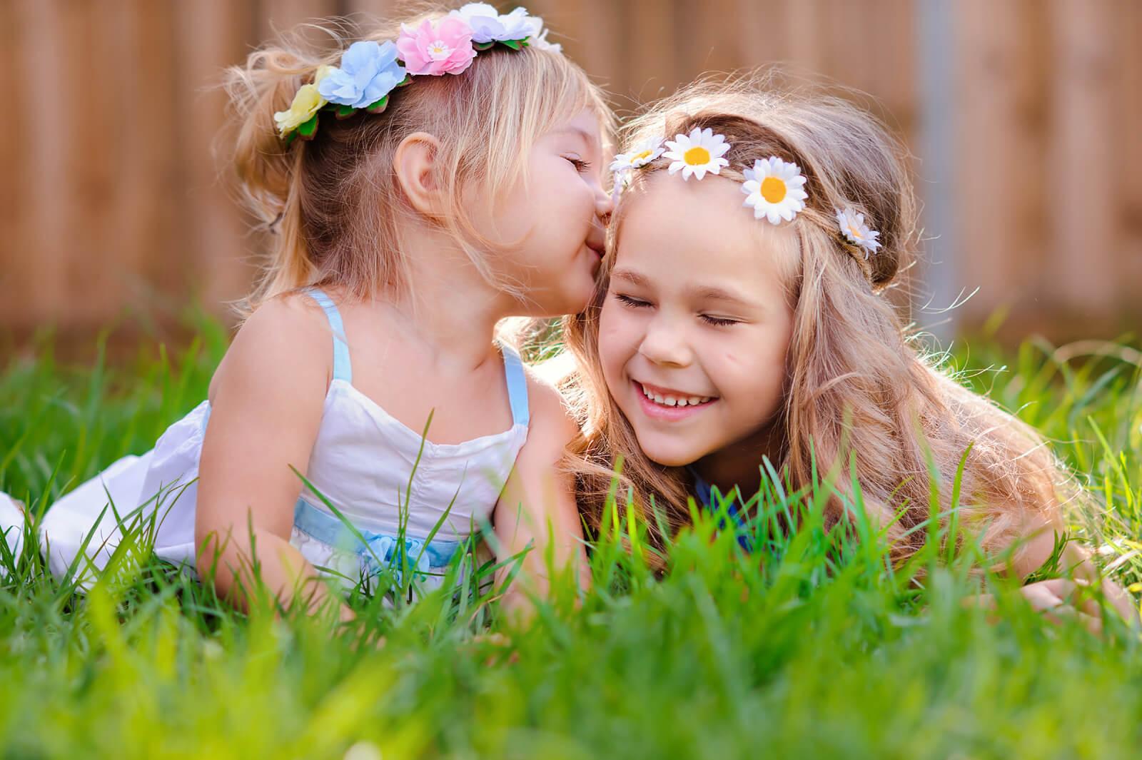 女孩,親吻