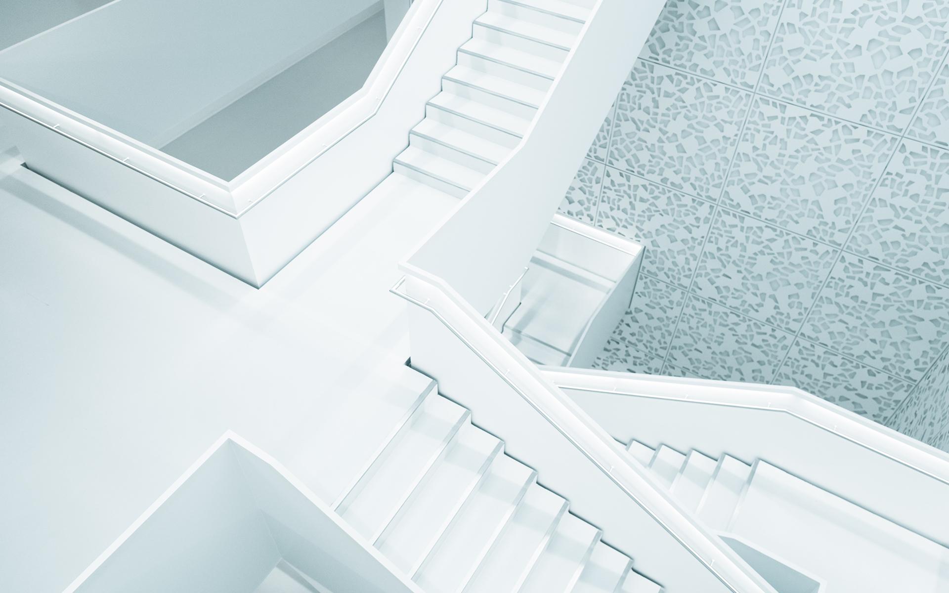 建筑,樓梯,白色
